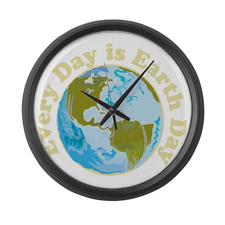 Earth_Day_dark Large Wall Clock