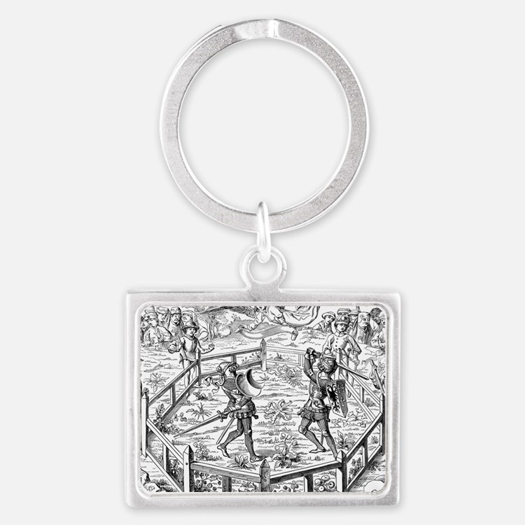 Single Combat Decided by Judgme Landscape Keychain