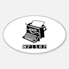 Typewriter Sticker (Oval)