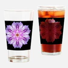 Violet Dahlia I_sRGB Drinking Glass