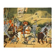 Battle of St Egidio after Uccello Throw Blanket
