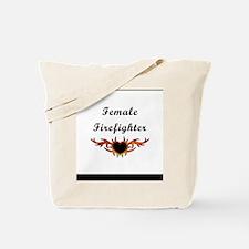 Female Firefighter Tattoo Tote Bag