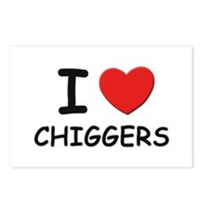 I love chiggers Postcards (Package of 8)