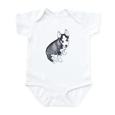 Siberian Husky Puppy Design Infant Bodysuit