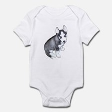 Siberian Husky Puppy Design Infant Bodysuit
