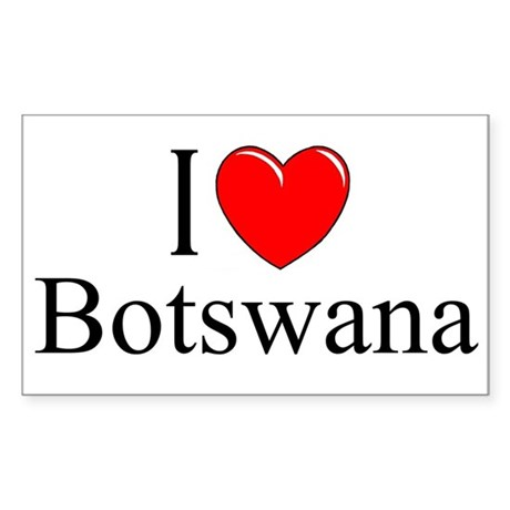 """I Love Botswana"" Rectangle Sticker"