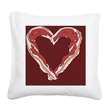 Baconlove2 Square Canvas Pillow