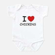I love chickens Infant Bodysuit