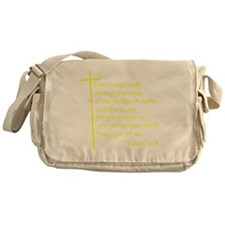 Psalms23-4 Yellow No Shadow Messenger Bag