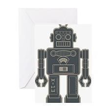 RobotGray Greeting Card