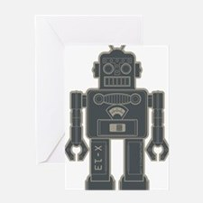 RobotGray Greeting Card
