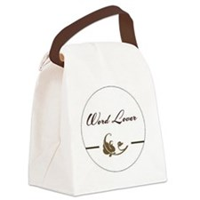 wordloverLg Canvas Lunch Bag