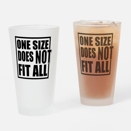 ONE SIZE HR Drinking Glass