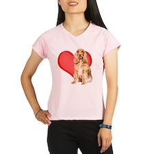 cocker spaniel valentine c Performance Dry T-Shirt