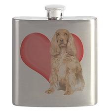 cocker spaniel valentine copy Flask