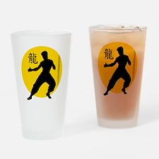 Kung Fu - No BKGRD Drinking Glass