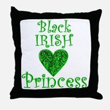 2-black_irish_princess_1 Throw Pillow