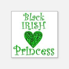 "2-black_irish_princess_1 Square Sticker 3"" x 3"""