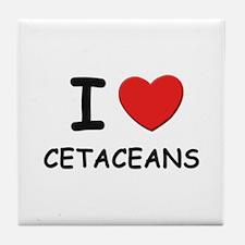 I love cetaceans Tile Coaster