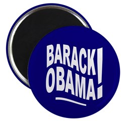 Barack Obama! Blue Magnet