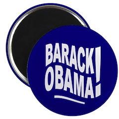 Barack Obama! Blue Magnet