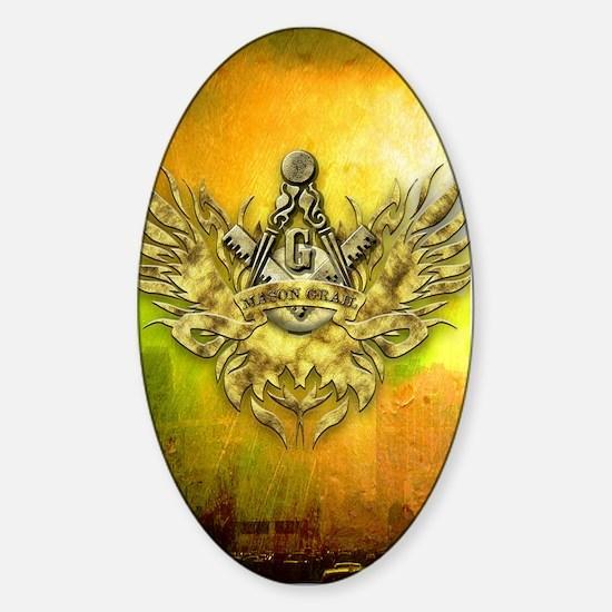 FreemasonryHumanRace Sticker (Oval)