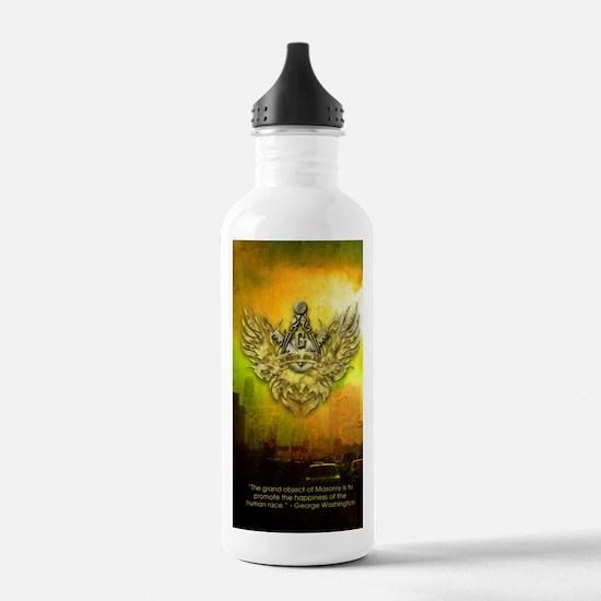 FreemasonryHumanRace Water Bottle