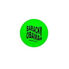 Barack Obama! Lime Green Mini Button