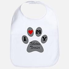 I Heart My Tibetan Terrier Bib