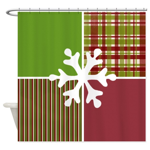 Christmas snowflake shower curtain by designdazzle