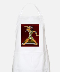 Funky Egyptian Prince Ruby and Square Red T Apron