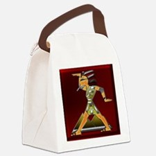 Funky Egyptian Prince Ruby and Sq Canvas Lunch Bag