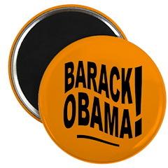 Barack Obama! Orange Magnet
