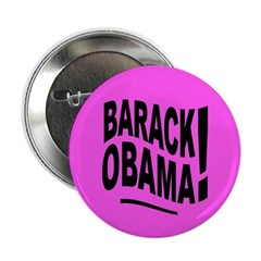 Barack Obama! Pink Button
