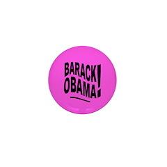 Barack Obama! Pink Mini Button
