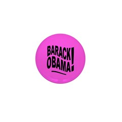 Barack Obama! Pink Mini Button