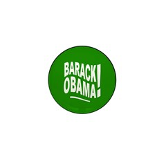 Barack Obama! Green Mini Button