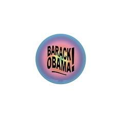 Barack Obama! Groovy Mini Button