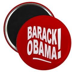Barack Obama! Red Magnet