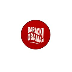 Barack Obama! Red Mini Button