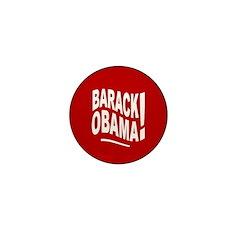 Barack Obama! Red Mini Button