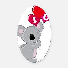 koala heart balloons cp Oval Car Magnet