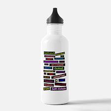 2-words joural Water Bottle
