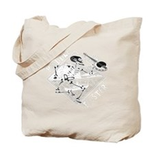 Paddle Faster Skeleton Canoe 2t Tote Bag