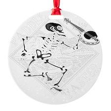 Paddle Faster Skeleton Canoe 2t Ornament