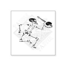 """Paddle Faster Skeleton Cano Square Sticker 3"""" x 3"""""""