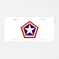 General America Aluminum License Plate