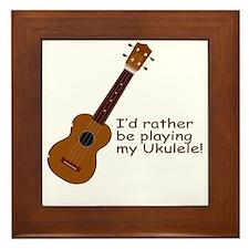 ukuleletshirt Framed Tile