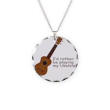 ukuleletshirt Necklace Circle Charm