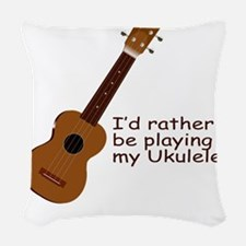 ukuleletshirt Woven Throw Pillow